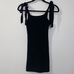 Black Mini Body-Con Dress